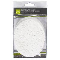 QVS Овальные очищающие спонжи  из натуральной целлюлозы Natural Cellulose Facial Cleansing Sponges (2 шт)
