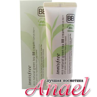 Innisfree BB-крем с зеленым чаем Eco Natural Green Tea с SPF29 PA++ Тон №2 Натурально-бежевый (40 мл)