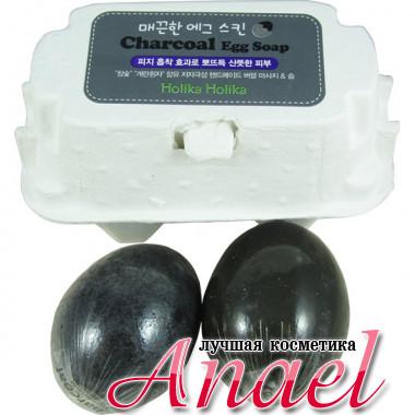 Holika Holika Мыло-маска с древесным углем Charcoal Egg Soap (2 х 50 гр)