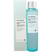 Mizon Очищающий тонер для пор «Себум контроль» Black Clean Up Pore Water Finisher (150 мл)