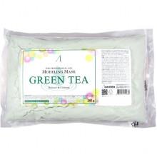 Anskin Сменный пакет успокаивающей альгинатной маски с экстрактом зеленого чая Modeling Mask Green Tea Balance & Calming (240 гр)