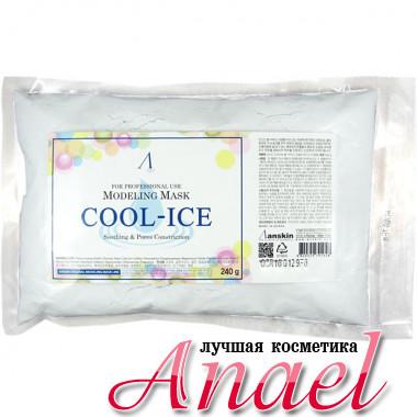 Anskin Сменный пакет успокаивающей альгинатной маски с перечной мятой Modeling Mask Cool Ice Soothing & Pores Constriction (240 гр)