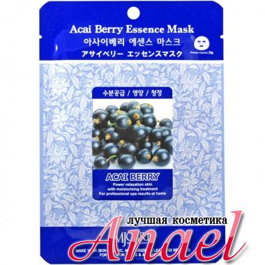 Mijin Тканевая маска с экстрактом ягод асаи MJ Care Acai Berry Essence Mask (1шт х 23 гр)