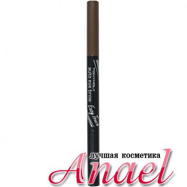 Tonymoly Автоматический карандаш со щеточкой для бровей «Легкое касание» Easy Touch Auto Eyebrow Тон 04 Коричневый мокко (0,4 гр)