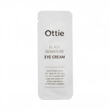 Ottie Пробник антивозрастного крема с муцином черной улитки для контура глаз Black Signature Eye Cream