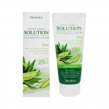 Deoproce Очищающая пенка с экстрактом алоэ Natural Perfect Solution Cleansing  Foam Aloe (170 мл)