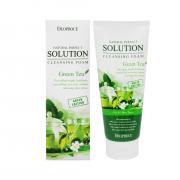 Deoproce Очищающая пенка с экстрактом зеленого чая Natural Perfect Solution Cleansing  Foam Green Tea (170 мл)