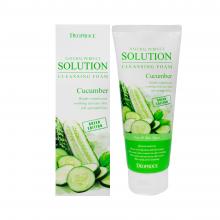 Deoproce Очищающая пенка с экстрактом огурца Natural Perfect Solution Cleansing  Foam Cucumber (170 мл)