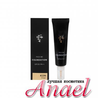 Ottie Антивозрастная осветляющая тональная основа под макияж  Pick Me Foundation SPF25PA++ #23N Ginger (30ml)