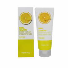 Farm Stay Пилинг гель для лица с экстрактом лимона Real Lemon Deep Peeling Gel (100 мл)