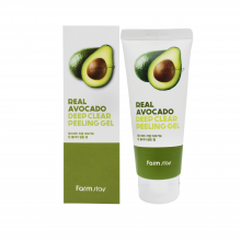 Farm Stay Пилинг гель для лица с экстрактом авокадо Real Avocado Deep Peeling Gel (100 мл)