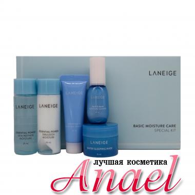 Laneige Набор миниатюрных увлажняющих уходовых средств для лица Basic Moisture Care Special Kit (5 предметов)