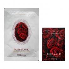 Lindsay Двухшаговая моделирующая альгинатная маска премиум-класса с экстрактом розы Rose Magic Modeling Gel Mask Pack (50 мл + 5 мл)