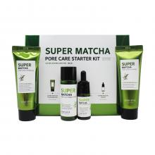 Some By Mi Набор миниатюр для сужения пор с чаем матча Super Matcha Pore Care Starter Kit (4 предмета)