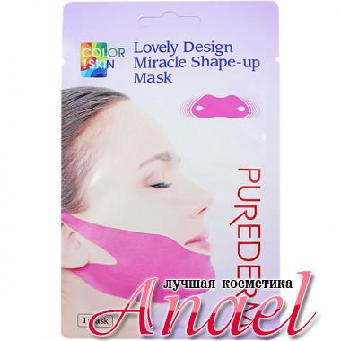 Purederm Гидрогелевая корректирующая маска-бандаж для подбородка Color!Skin Lovely Design Miracle Shape-Up Mask (1 шт х 10 гр)
