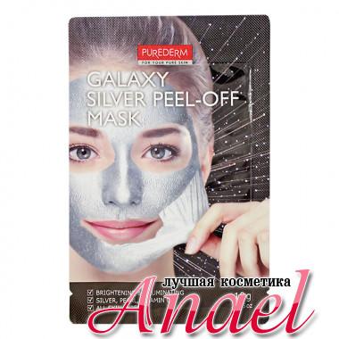 Purederm Очищающая маска-пленка для лица Серебряная Galaxy Silver Peel-Off Mask (10 гр)