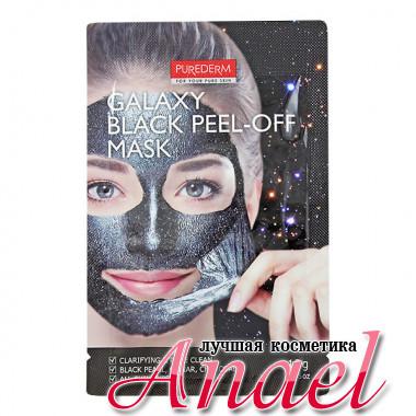 Purederm Очищающая маска-пленка для лица Черная Galaxy Black Peel-Off Mask (10 гр)