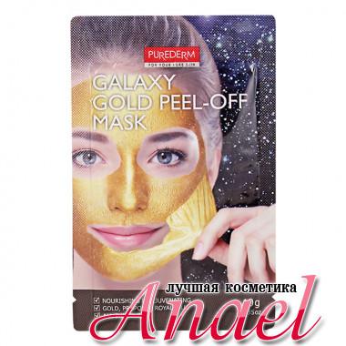 Purederm Очищающая маска-пленка для лица Золотая Galaxy Gold Peel-Off Mask (10 гр)