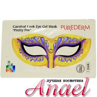 Purederm Гидрогелевая маска с принтом для контура глаз «Милая лисичка» Carnival Look Eye Gel Mask «Pretty Fox» (1 шт)
