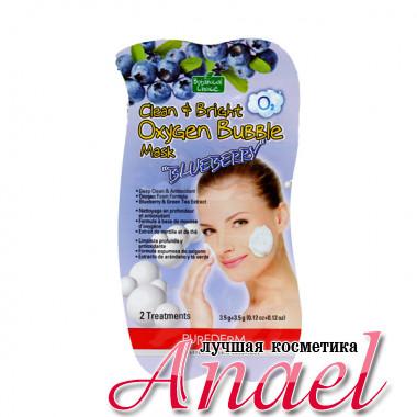 Purederm Кислородная пенящаяся маска для глубокого очищения лица «Черника» Clean & Bright Oxygen Bubble Mask «Blueberry» ( 2 шт х 3,5 гр)