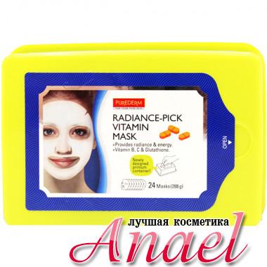 Purederm Осветляющая тканевая маска с витаминами Radiance-Pick Vitamin Mask (1 уп х 24 шт)