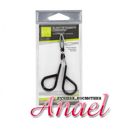 QVS Пинцет для бровей в форме ножниц со скошенными кончиками Slant Tip Scissor Tweezers (1 шт)