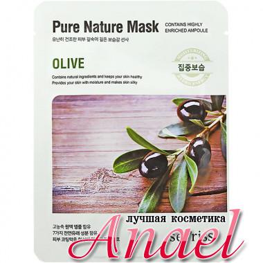 Anskin Secriss Тканевая маска «Олива» Pure Nature Mask Olive (1 шт)