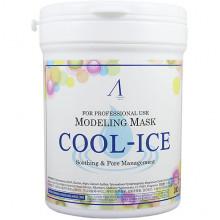 Anskin Успокаивающая альгинатная маска с перечной мятой Modeling Mask Cool Ice Soothing & Pores Constriction (240 гр)