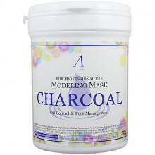 Anskin Альгинатная маска с угольной пудрой Modeling Mask Charcoal Oil Control & Pore Management (240 гр)