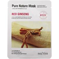 Anskin Secriss Тканевая маска «Женьшень» Pure Nature Mask Red Ginseng (1 шт)