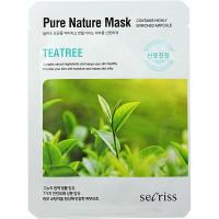 Anskin Secriss Тканевая маска с экстрактом чайного дерева Pure Nature Mask Tea Tree (1 шт)