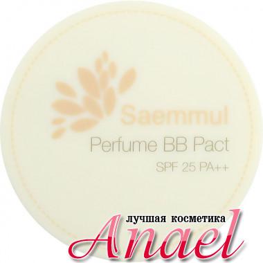 The Saem Парфюмированная компактная BB-пудра Тон 21 Бежево-розовый SPF25 PA++ Saemmul Perfume BB Pact (20 гр)