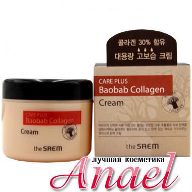 The Saem Крем для увлажнения и эластичности кожи с экстрактом баобаба и коллагеном для лица и тела Care Plus Baobab Collagen Cream (100 мл)