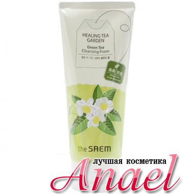 The Saem Восстанавливающая пенка для умывания «Зеленый чай» Healing Tea Garden Green Tea Cleansing Foam (150 мл)