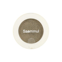 The Saem Одноцветные тени с блеском Тон GR01 Оливково-серый Saemmul Single Shimmer Shadow (2 гр)