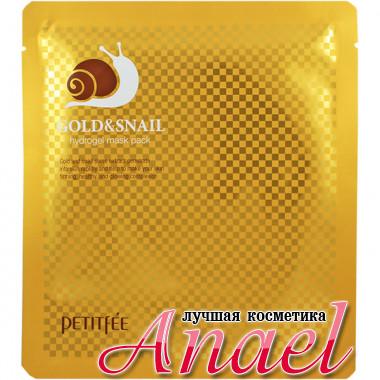 Petitfee Гидрогелевая маска с коллоидным золотом и улиточным муцином Gold & Snail Hydro Gel Mask Pack (1 шт х 30 гр)