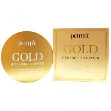 Petitfee Увлажняющие гидрогелевые патчи с коллоидным золотом для контура глаз Gold Hydrogel Eye Patch +5 Golden Complex (60 шт)