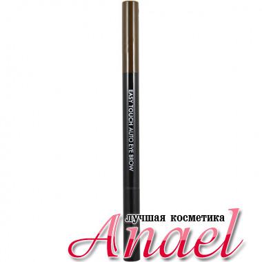 Tonymoly Автоматический карандаш со щеточкой для бровей «Легкое касание» Easy Touch Auto Eyebrow Тон 03 Темно- Коричневый (0,4 гр)