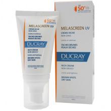 Ducray Солнцезащитный отбеливающий крем против пигментации для сухой кожи c SPF 50+ Melascreen UV Rich Cream (40 мл)