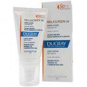 Ducray Солнцезащитный отбеливающий крем против пигментации для нормальной и комбинированной кожи с SPF 50+ Melascreen UV Light Cream (40 мл)