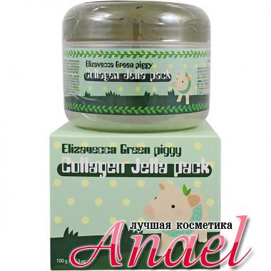 Elizavecca Коллагеновая маска-желе для лица Green Piggy Collagen Jella Pack (100 гр)