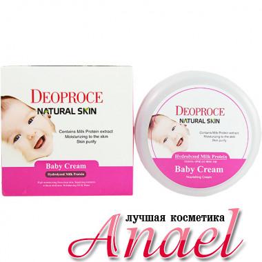 Deoproce Детский питательный крем с гидролизованным молочным протеином Natural Skin Baby Cream Hydrolyzed Milk Protein (100 гр)