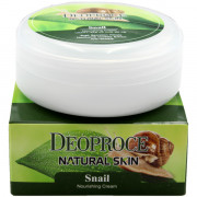 Deoproce Питательный крем для лица «Улитка» Natural Skin Snail Nourishing Cream (100 гр)