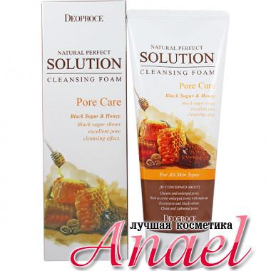 Deoproce Пенка с черным сахаром и медом для глубокой очистки пор Natural Perfect Solution Cleansing Foam Pore Care (170 гр)