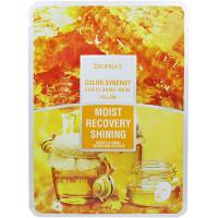 Deoproce Желтая тканевая маска с экстрактами меда и улиточного фильтрата Color Synergy Effect Sheet Mask Yellow Moist Recovery Shining Honey & Snail Secretion Filtrate (1 шт)