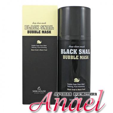 The Skin House Кислородная маска с муцином черной улитки для глубокого очищения кожи и пор Black Snail Bubble Mask (100 мл)