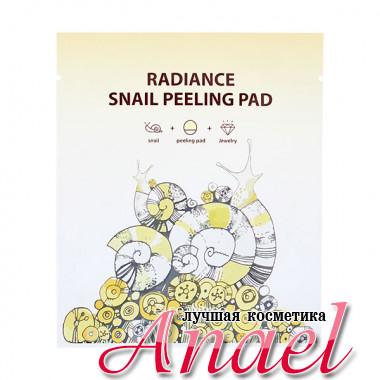 SeaNtree Двухсторонний пилинг-спонж с муцином улитки Radiance Snail Peeling Pad (1 х 8 мл)