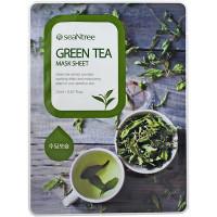 SeaNTree Тканевая маска с экстрактом зеленого чая Green Tea Mask Sheet (1 шт)