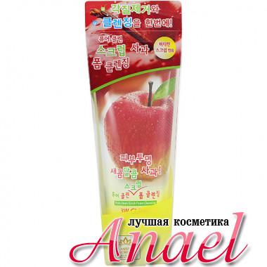 3W Clinic Тонизирующий скраб-пенка «Яблоко» Pure Clean Scrub Foam Cleansing Apple (180 мл)