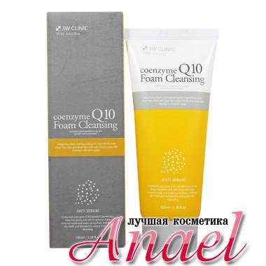 3W Clinic Очищающая пенка с коэнзимом Q10 для жирной кожи Coenzyme Q10 Foam Cleansing Anti-Sebum (100 мл)